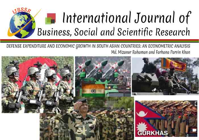 DEFENSE EXPENDITURE AND ECONOMIC GROWTH IN SOUTH ASIAN COUNTRIES: AN ECONOMETRIC ANALYSIS