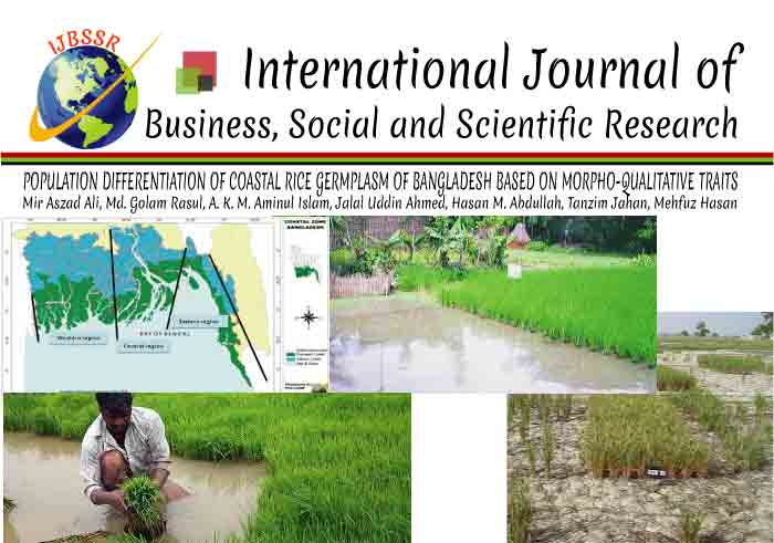POPULATION DIFFERENTIATION OF COASTAL RICE GERMPLASM OF BANGLADESH BASED ON MORPHO-QUALITATIVE TRAITS
