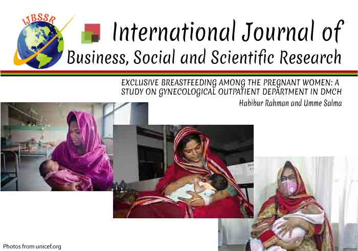 EXCLUSIVE BREASTFEEDING AMONG THE PREGNANT WOMEN: A  STUDY ON GYNECOLOGICAL OUTPATIENT DEPARTMENT IN DMCH