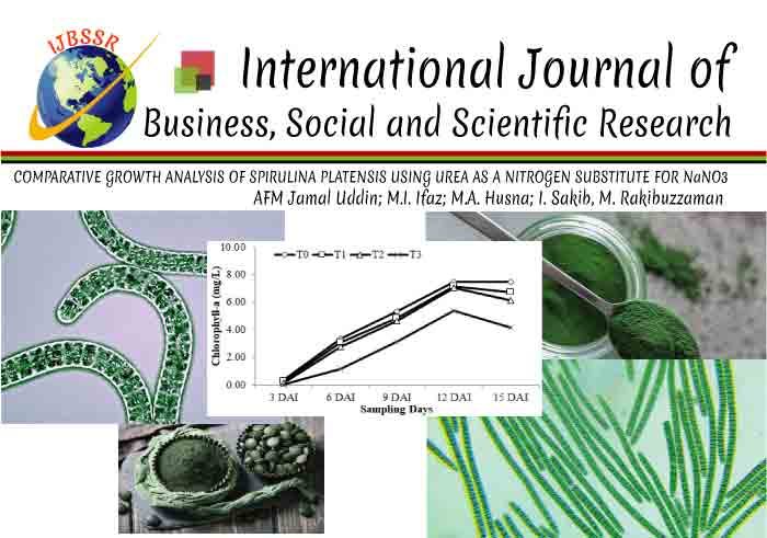COMPARATIVE GROWTH ANALYSIS OF SPIRULINA PLATENSIS USING UREA AS A NITROGEN SUBSTITUTE FOR NaNO3