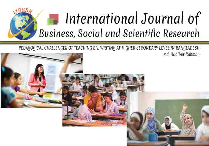 PEDAGOGICAL CHALLENGES OF TEACHING EFL WRITING AT HIGHER SECONDARY LEVEL IN BANGLADESH