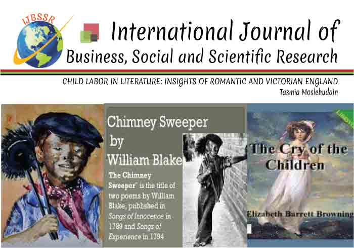 CHILD LABOR IN LITERATURE: INSIGHTS OF ROMANTIC AND VICTORIAN ENGLAND