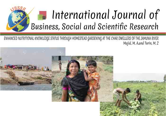 ENHANCED NUTRITIONAL KNOWLEDGE STATUS THROUGH HOMESTEAD GARDENING AT THE CHAR DWELLERS OF THE JAMUNA RIVER